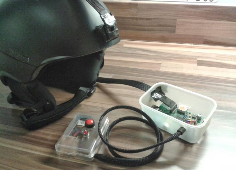 Btech Project Design Raspberry Pi based GPS tracking Helmet