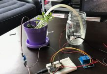 Watering system to plant with SMS confirmation