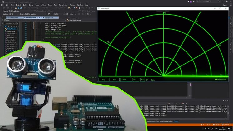 radar (sonar) designing using arduino Radar (Sonar) designing using Arduino Radar Sonar designing using Arduino2 747x420