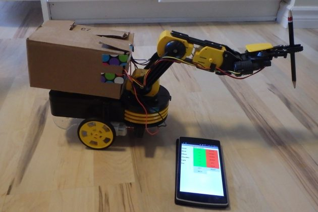 Robot Arm with Smartphone control Using Arduino robot arm with smartphone control using arduino Robot Arm with Smartphone control Using Arduino Robot Arm with Smartphone control Using Arduino1 630x420