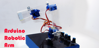 Robot Arm with Smartphone control Using Arduino